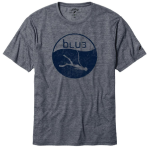 BLU T Shirt gray with logo