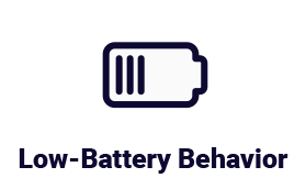 Low-Battery Behavior